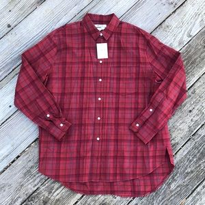 NWT Madewell Flannel Oversized Fit Size Small